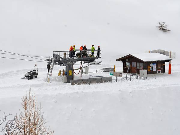 The affected ski lift